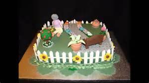 garten torte garden theme 80th birthday fondant cake