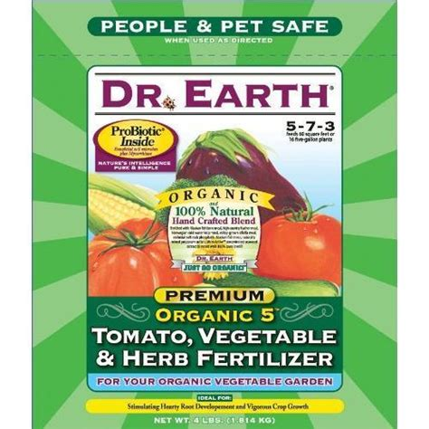 Dr Earth Organic 5 Tomato Vegetable Herb Fertilizer Fertilizer For Vegetable Gardens