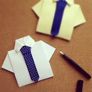 shirt tie cards origami cards origami and