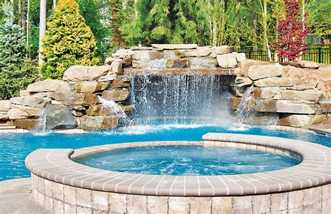 pool waterfall ideas pools with waterfalls custom swimming pool designs