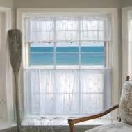 Coastal Kitchen Curtains by Coastal Seashell Curtains Amp Valances