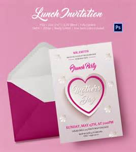 Lunch Invitation Template by Lunch Invitation Template 25 Free Psd Pdf Documents