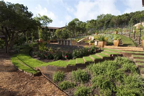 Hill Country Gardens - hill country villa garden vincent landscapes inc