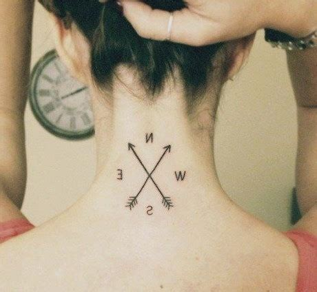 simple nape tattoo 23 simple compass tattoos