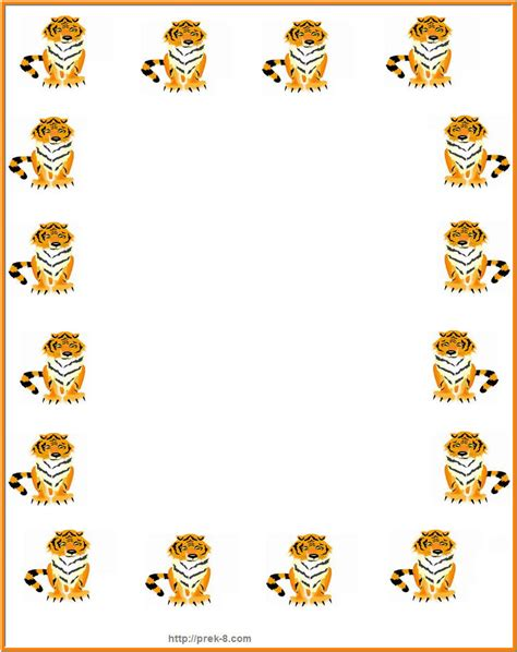 printable jungle writing paper animal border clipart clipart suggest