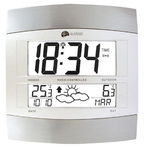 Grande Horloge Murale Design 374 by Horloge Digitale Radio Pilot 233 E Grey