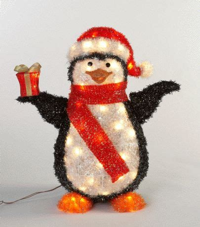 light up penguin christmas decoration lights trees led lights
