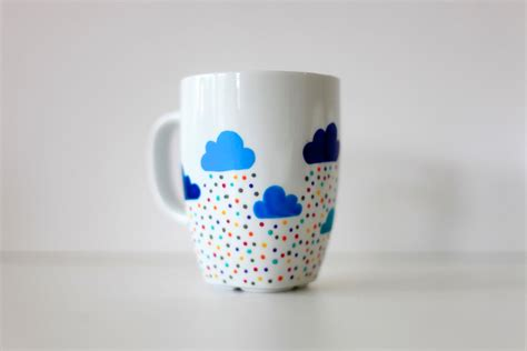 cool mug designs the 365 custom hand painted mug clouds and by funkytiles