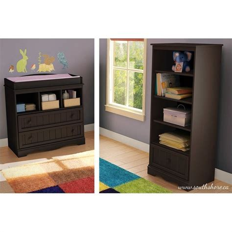 changing table with drawers and shelves south shore savannah changing table and shelving unit with