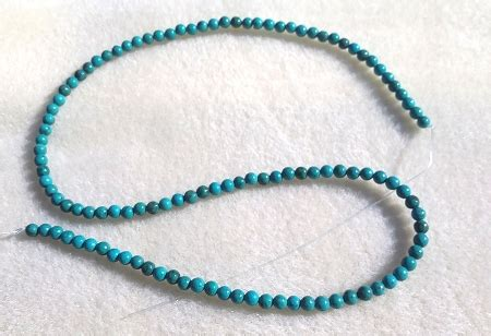 dollar bead 4mm howlite turquoise 16 quot