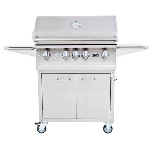 32 inch stainless steel lion 32 inch stainless steel propane gas grill on cart