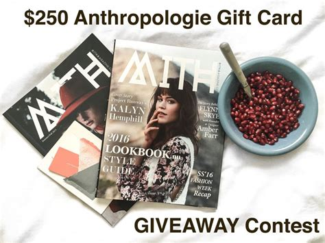 Where To Buy Anthropologie Gift Card - instagram giveaway contest win 250 anthropologie gift card mith magazine