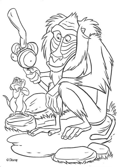 coloring pages lion king images