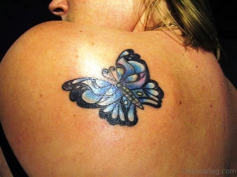 small flower tattoos on back shoulder 55 delightful butterfly tattoos on shoulder