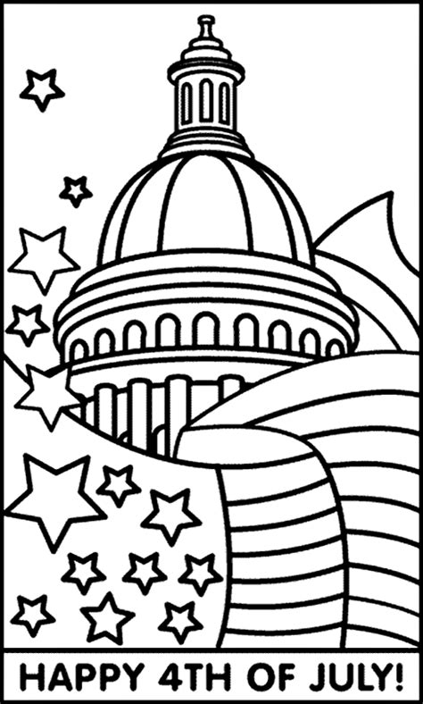 crayola coloring pages 4th of july july 4th capitol and flag coloring page crayola com
