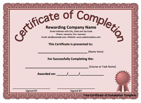 microsoft certificate template sle microsoft word templates free documents