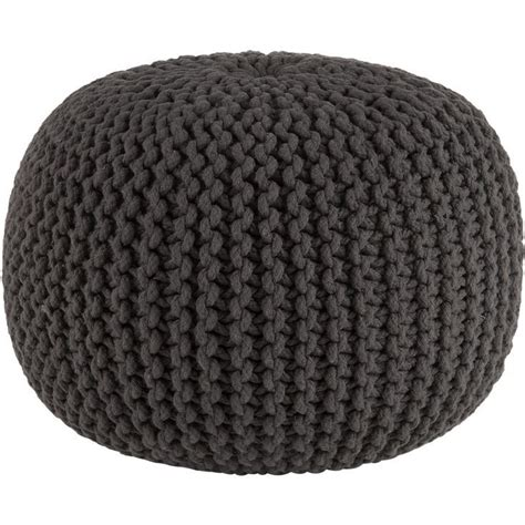 knitted poufs ottomans knitted graphite pouf ottoman for the home pinterest