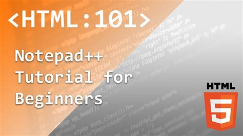 html tutorial on notepad html5 tutorial notepad plugins plugin manager emmet