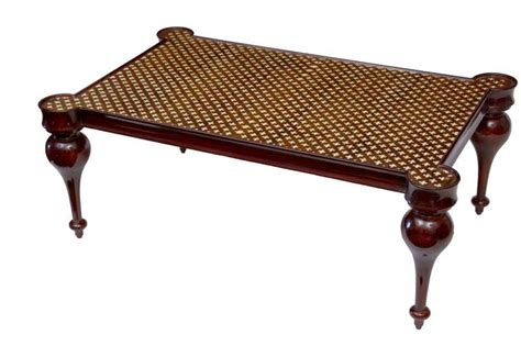 regency bone inlay coffee table arabesque cocktail
