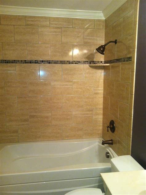 Shower Shelf Installation by Ceramic Tile Installation Express Baths