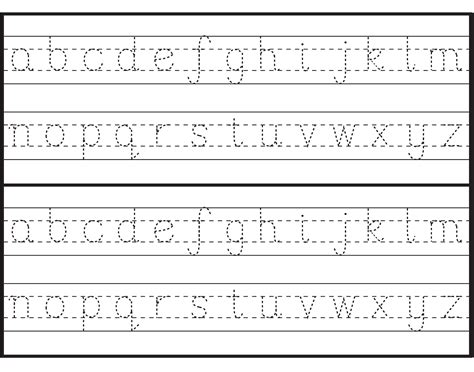 alphabet letter tracing templates printable letter to trace activity shelter