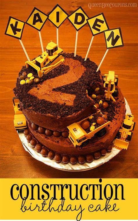 construction 2nd birthday cake construction cake children s birthday cakes picmia