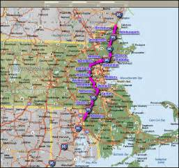Massachusetts Map Towns by Interstate 95 Cities In Massachusetts Map Boston Mappery