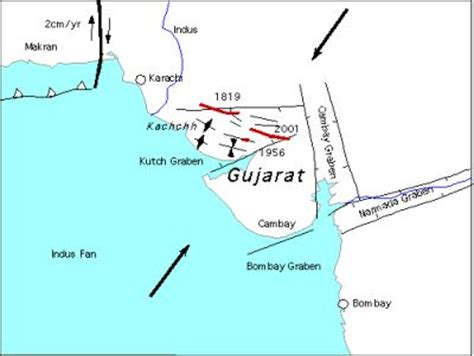 earthquake zone in gujarat india seismic images igcp project 559 crustal