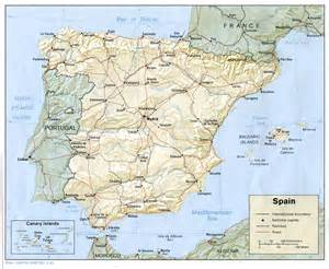 Map Spain by Map Of Spain