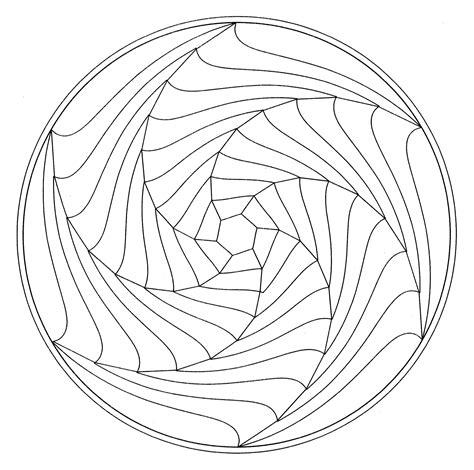 coloring pages illusions a simple optical illusion in a mandala from the gallery