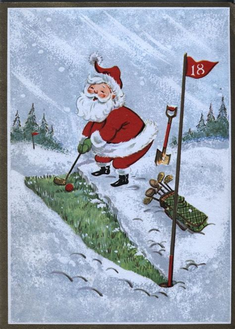 christmas themes for golf 301 best images about golf quot fore quot you cards more on