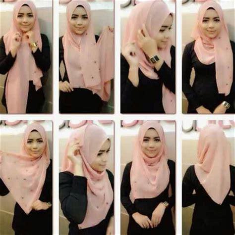 Foto Cara Memakai contoh cara memakai jilbab cantik trendy 2016