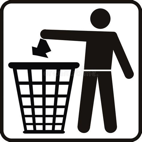 clipart rifiuti cestino dei rifiuti illustrazione vettoriale