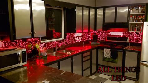 led kitchen backsplash led backsplash youtube