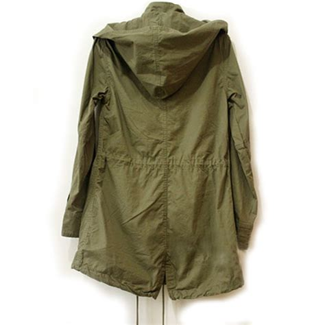 Button Parka us 2016 army green parka button trench hooded