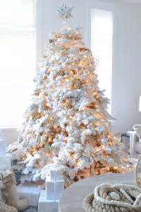 white decorations for a tree 26 best flocked tree d 233 cor ideas digsdigs