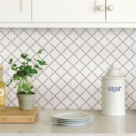 kitchen backsplash tiles peel and stick wallpops white quatrefoil peel stick backsplash tiles nh2360 the home depot