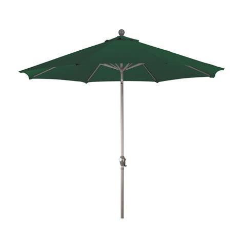 Green Patio Umbrella Shop Green Market Patio Umbrella Common 9 Ft W X 9 Ft L Actual 9 Ft W X 9
