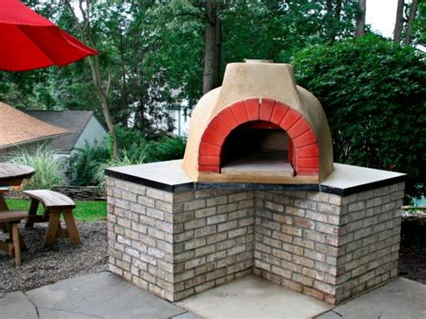 outdoor kitchen designs with pizza oven how to build an outdoor pizza oven hgtv