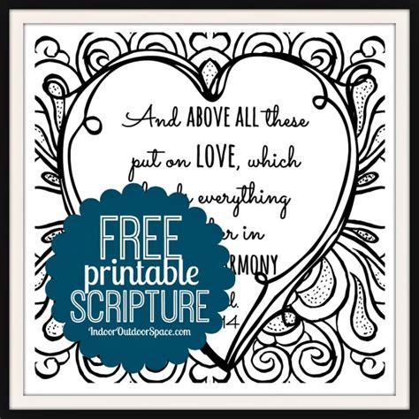 Bible Verses For The Home Decor by Free Valentines Scripture Verse Printable Coloring Page