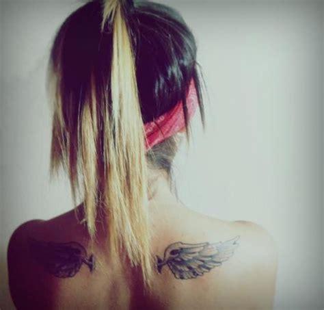 tattoo shoulder hair shoulder blade tattoo wings tattoos pinterest one