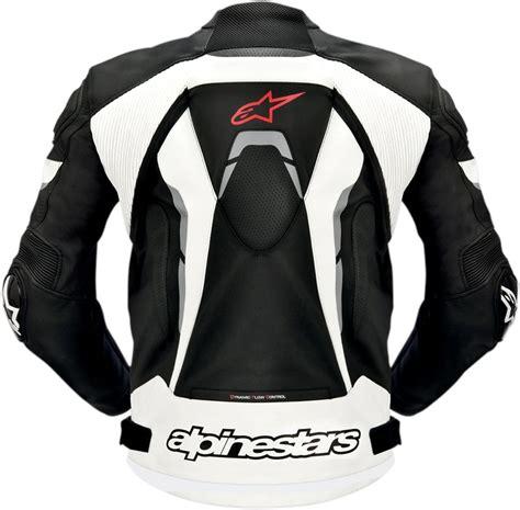 white leather motorcycle alpinestars celer leather motorcycle jacket black white