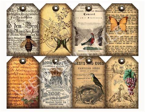 best books on primative scrap crafts 8 ephemera primitive vintage gift hang tags scrapbooking paper crafts ebay
