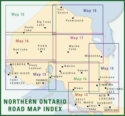 northern ontario map northern ontario road maps