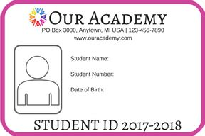 student id card template free how to make student id cards free printable paradise