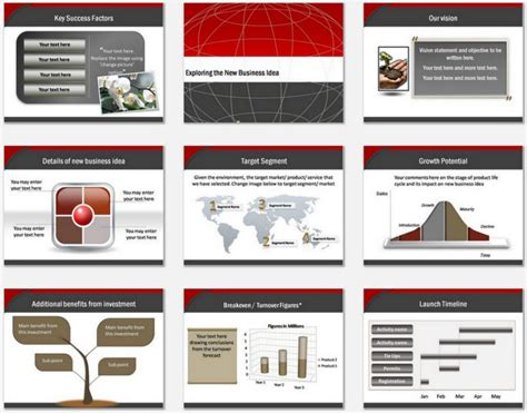 plan on a page template powerpoint powerpoint business plan blueprint template