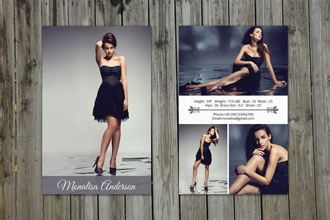 modeling comp card template v199 flyer templates