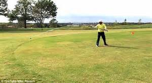 longest golf balls for slow swing speed golfer sets world record for longest usable golf club with