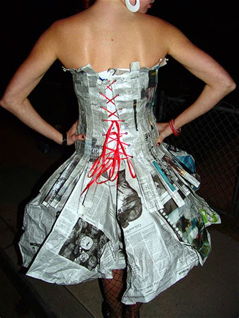 Clothes Out Of Paper - newsprint paper mache costume occasions and holidays