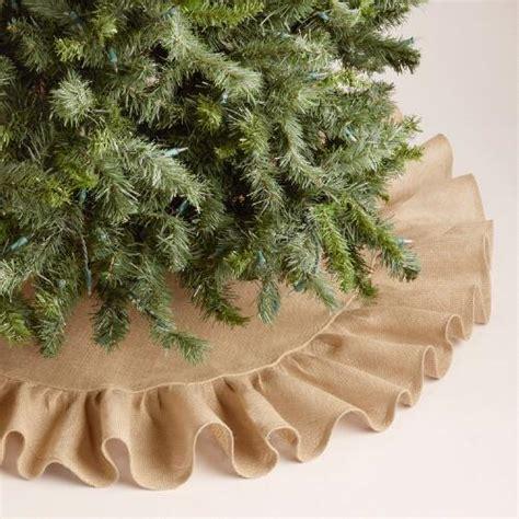 How To Use World Market Gift Card Online - beige ruffled burlap tree skirt world market